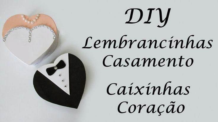 DIY: Como Fazer Lembrancinhas de CASAMENTO - Caixas Coração Garrafa Pet EVA - Artesanato Reciclagem