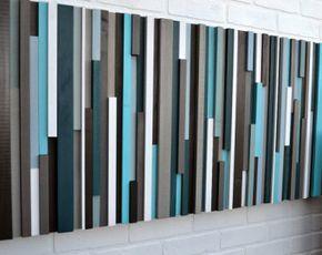 Madera de la pared arte recuperada madera arte por moderntextures