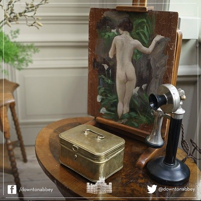 A glimpse at a rarely seen corner of a set on Downton Abbey. The props are simply stunning! #Behindthescenes #DowntonAbbey #Downton #Set #Props