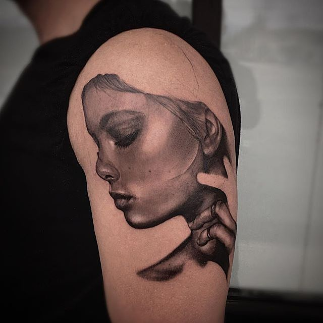 : @mroytattooart Marc Roy Progress shot from yesterday's piece. Few hours in. Early days but wanted to share nonetheless. Done using @dipcaps @pro_t_ink @fkirons @kurosumitattooink @worldfamousink @truetubes @inkeeze  #blackandgreyartist #tattooartist #dipcaps #worldfamousink #kurosumiink #zhangpogreywashshadingset #bgis #bnginksociety #crazytattoos #inkjunkeyz #inkeeze #truetubes #spektraedgex #protink #evo10 #sponsored @scarecrowinktattoochwk