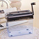 Tmarton Grey Portable Mini Manual Hand Shredder A6 Paper Documents Handmade Straight Cutting Machine Tool For... Features:  Small size, does not take up much space in your home, office, etc. Manually https://thehomeofficesupplies.com/tmarton-grey-portable-mini-manual-hand-shredder-a6-paper-documents-handmade-straight-cutting-machine-tool-for-office-home-desktop-stationery/