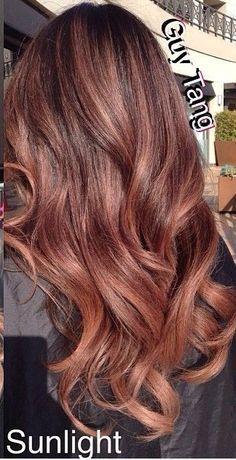 rose gold brunette hair - Google Search
