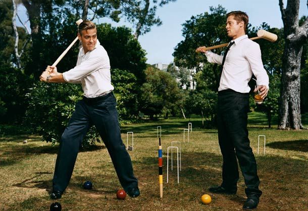 George Clooney and Brad Pitt  WHEN THE STARS GO CRAZY – 30 CREATIVE PHOTOGRAPHS BY MARTIN SCHOELLER