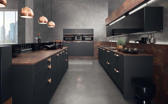Regina-Küche mit Kupfer; Fotocredit: rational einbauküchen