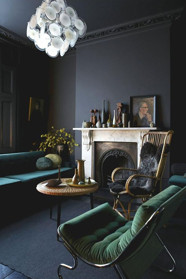"""How To Decorate Your Small Space For Fall — Tips From The Pros #refinery29 http://www.refinery29.com/small-space-designer-solutions#slide1 Pull In Your Furniture """"Backing all your furniture right up against the wall is one of the biggest furniture faux pas ever. No matter how small the room, the minute you bring things in toward the center (even by a few inches!), you'll change the whole atmosphere, create breathing space, and make your space appear bigger."""" — Abigail Ahern, interior ..."""