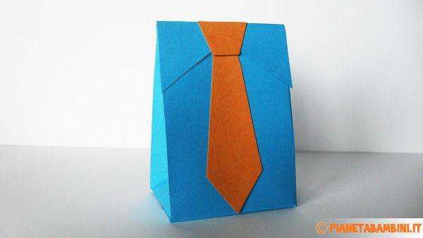 Scatolina regalo con cravatta per la festa del papà