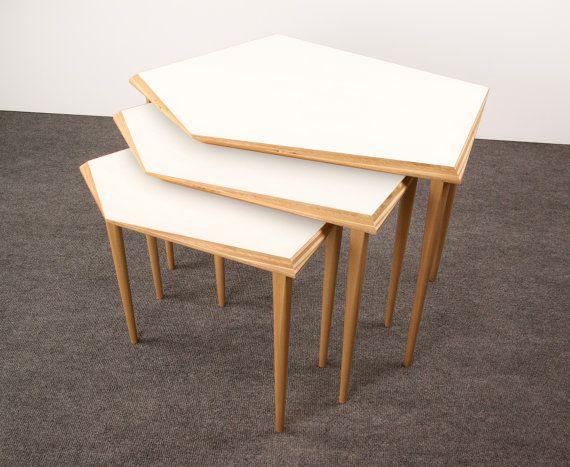 Mesas nido / Set de mesas nido / Mesa de madera / por MonoculoShop