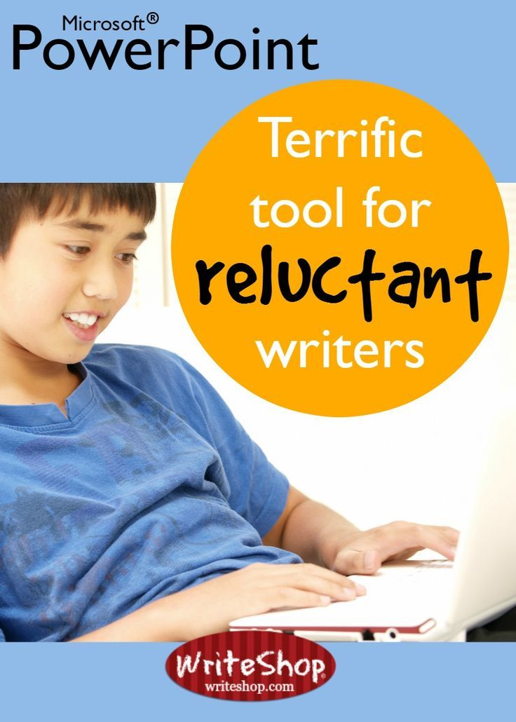 Introduce reluctant writers to PowerPoint! For kids, making a PowerPoint presentation is a cool way to merge knowledge, writing, and technology.