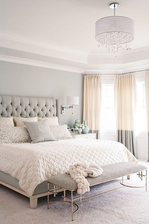 Love the simple and elegant colour scheme, but most of all those curtains are fantastic!