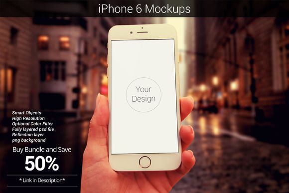 iPhone 6 Device Mockup_4 by shrdesign on @creativemarket
