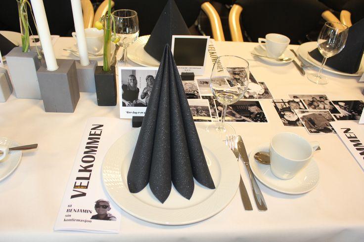konfirmasjon borddekking