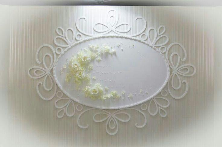 Hochzeitsdeko barock weiß creme