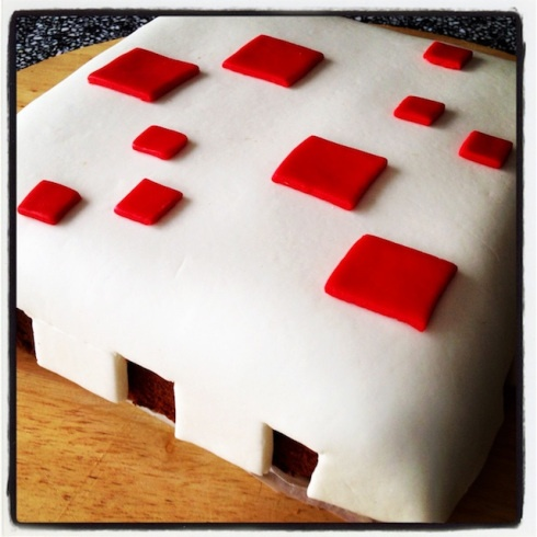 Minecraft Cake for birthday party