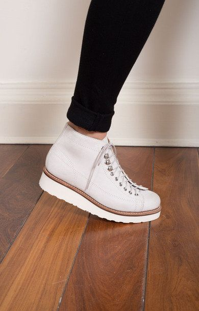 0e40be59c0a Annie White Burnished Suede Monkey Boot
