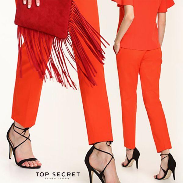 4 kobiece stylizacje ze spodniami | czerwone spodnie damskie | lady in red