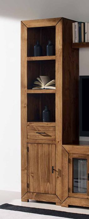 Estanterias Rusticas De Salon Coleccion Tijuana Muebles De Estilo - Estanterias-rusticas-de-madera