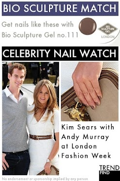 At Fashion Week with Andy Murray, match Kim Sears's nails with Bio Sculpture Gel no.111