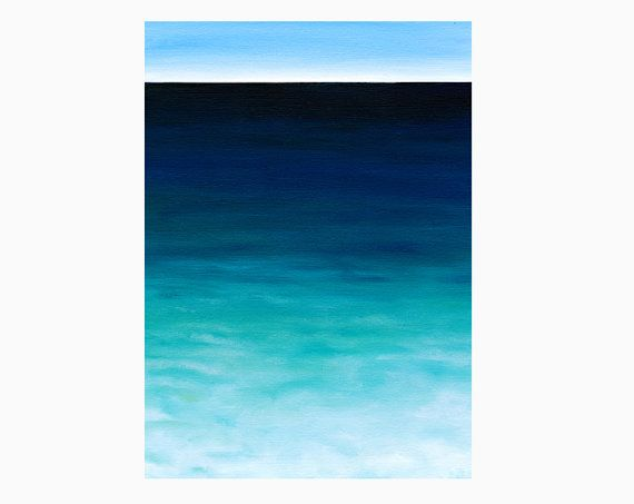 Paesaggio marino dipinto a olio, 20x30 originale su tela, tela oceano, decorazione casa mare, arte oceano, sfumature blu verde by SilviaVeri #italiasmartteam #etsy