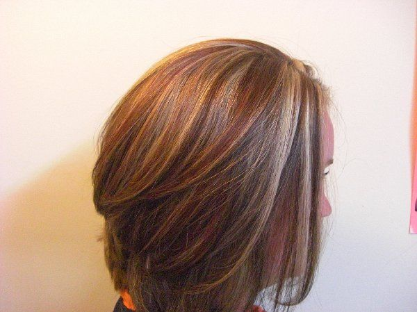 Brown Hair With Red And Blonde Highlights Red Gold