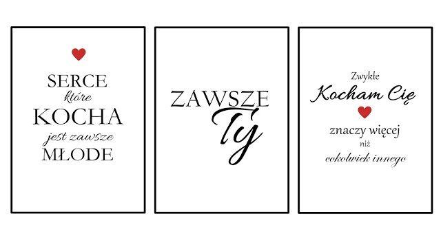 Rozaneczka: Love is in the air | 3 plakaty walentynkowe do druku - po polsku