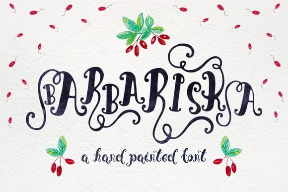 Barbariska hand painted font by OlgaAlekseenko on Creative Market