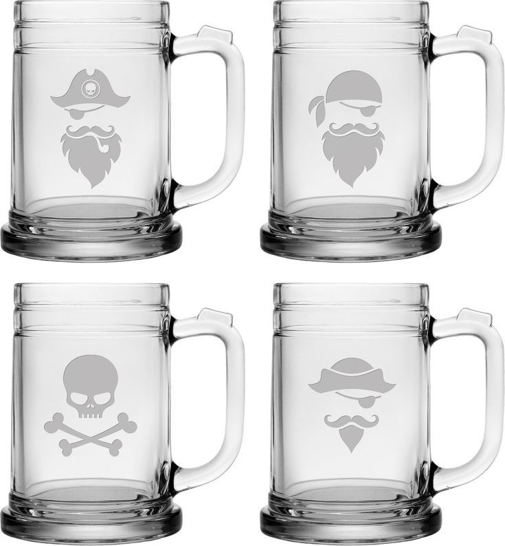 Pirate Faces 15 ox. Tankard Mug