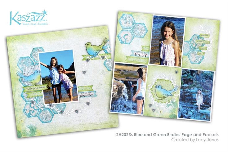 2H2023s Blue and Green Birdies Page and Pockets