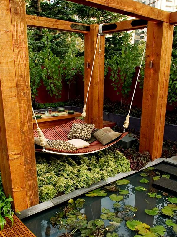 Or you can read in a pond swing...