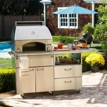 Lynx Professional Napoli Natural Gas Pizza Oven On Cart - LPZAF