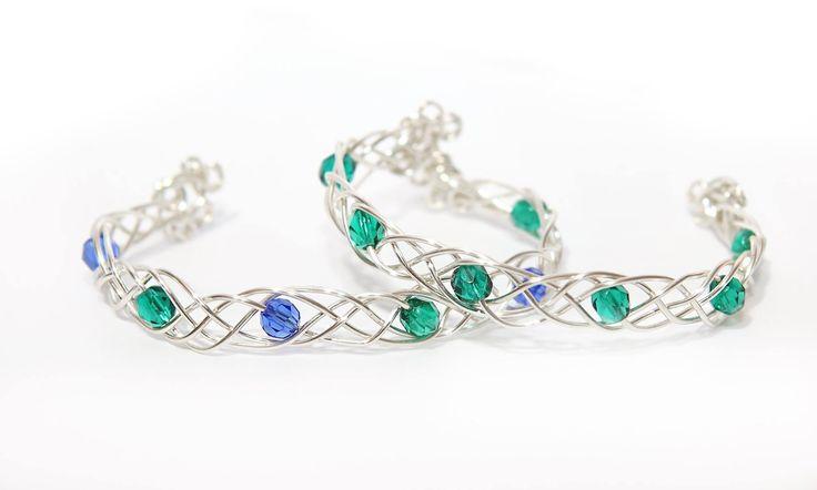 handmade celtic knitted bracelets