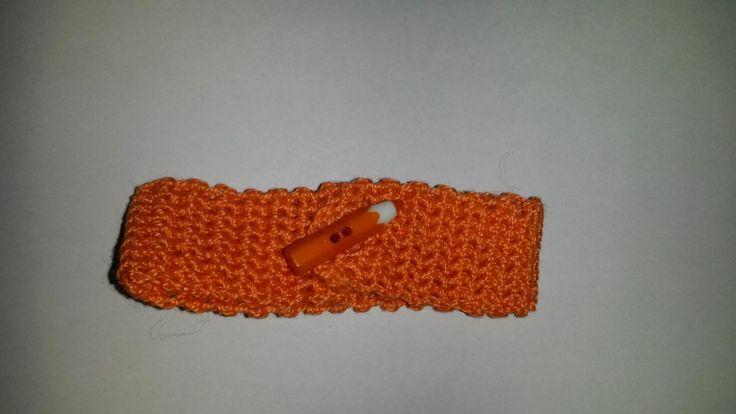 Bracciale arancione in cotone fatto all'uncinetto : Braccialetti di idee-regalo-a-4-zampe