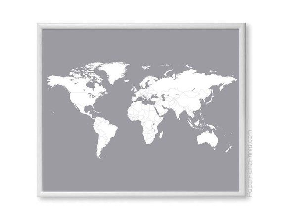 World Travel Map | Love Travels | Wedding Gift for Boyfriend | Romantic First Anniversary Gift for H