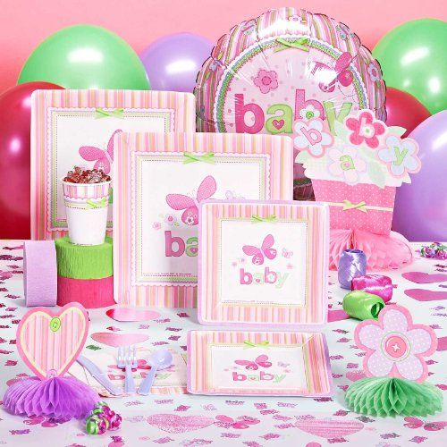 butterfly baby girl   Carter's Baby Girl Baby Shower Deluxe Party Pack for 16