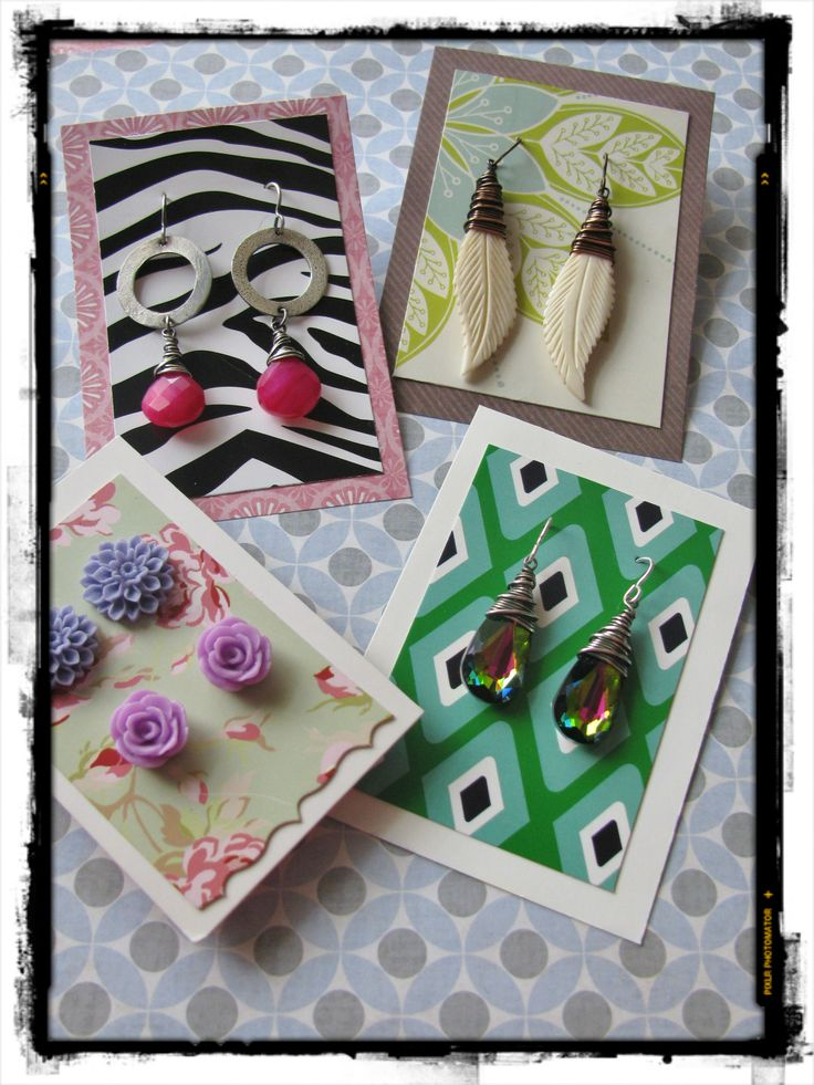 DIYJewelry Earring Cards, Jewelry Gift Boxes and More! We've got lots of great ideas for fun pro…