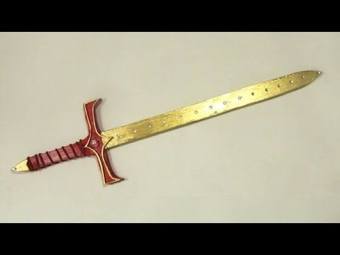 Make a Viking Axe out of Foamboard or Cardboard -Template Included - YouTube