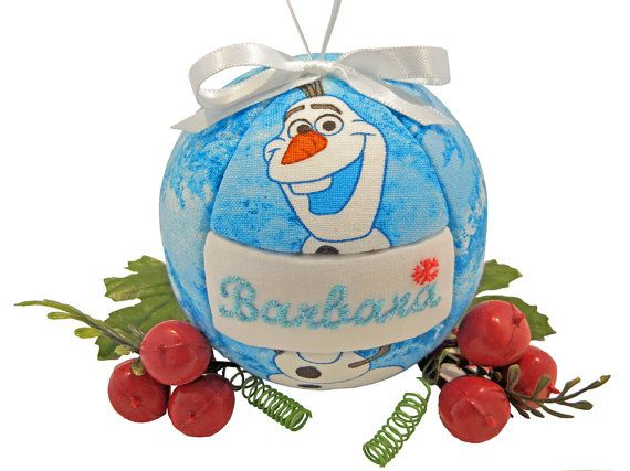 Childs Personalized Frozen Olaf Handmade Christmas by craftcrazy4u