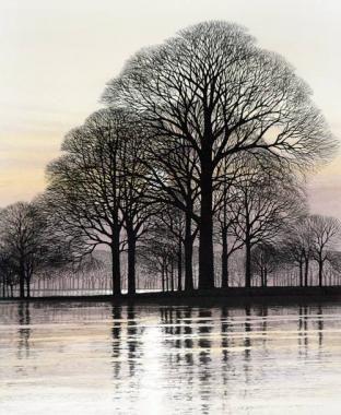 Reflections II, Kathleen Caddick, etching