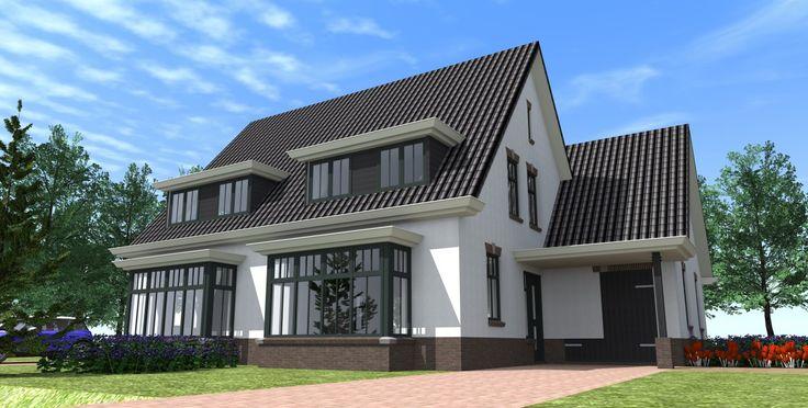 Twee-onder-een kapwoningLunteren De twee-onder-een-kap woning Lunteren heeft eenlandelijk woonkarakter.Het ontwerp van deze woning zorgt ervoor dat je een optimale indeling kan maken door de grote hoeveelheid ruimte.  Wij hebben de twee-onder-een-kap woning Lunteren uitgevoerd in wit gestuukte gevel en een antraciete dakpan. Je kunt deze woning echter in talloze variatiesen naar eigen wens uit laten voeren.
