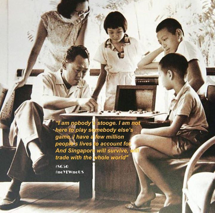 Mr. Lee Kuan Yew & his family