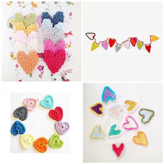 Crochet Hearts Patterns Ebook  Instant by annemariesbreiblog