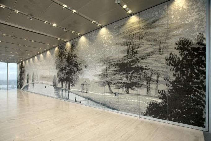 Rothschild Bank by OMA. Textile wall. Courtesy TextielMuseum | TextielLab Tilburg.