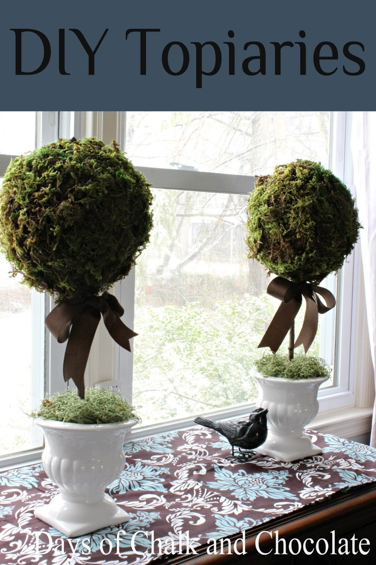 Days of Chalk and Chocolate: How To DIY Topiaries (Paper Mache)