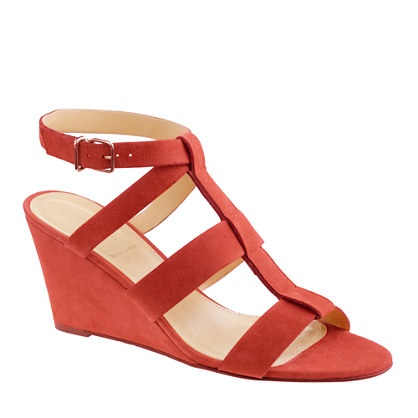 OLYMPIA SUEDE WEDGES: Shoes Wedges, Crew Olympia, Summer Shoes, Shoes Sandals, Coral Wedges, Olympia Su, Wedges Sandals, Grey Dresses, J Crew Shoes