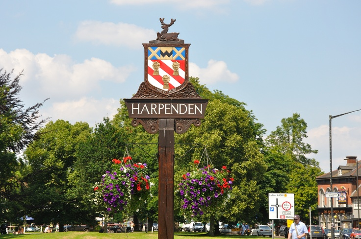 Harpenden, a lovely country town just north of London, UK.  Where we stayed as guests of my husband's cousin while in the U.K., lovely spot!