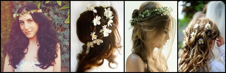 Flowers in Your Hair: Hippy Wedding Hair Ideas - brideheaven.com