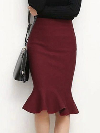 Cupshe Turn Up the Heat Fishtail Skirt                              …