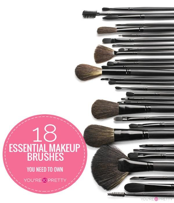 18 Essential Makeup Brushes You Need To Own | Best makeup brushes and how to use makeup brushes at You're So Pretty. #youresopretty | youresopretty.com