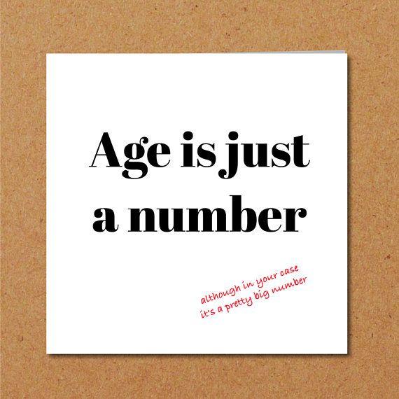 Funny Birthday Card 40th 50th 60th For Mum Dad Birthdaycard