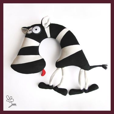 Pillows small animals:  On the neck and under the ear, Functional limitless (road cushion,...) Lenkin - Zebras Dobr