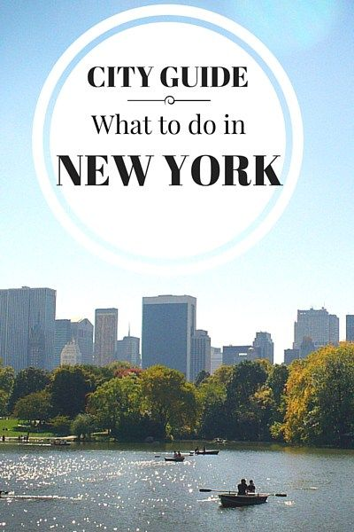 Sunday City Guide: What To Do In New York City
